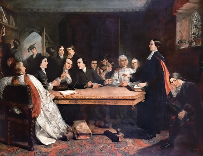 [John Wesley and His Friends at Oxford, Claxton, Marshall, 1813–1881, Photo credit: Salford Museum & Art Gallery]